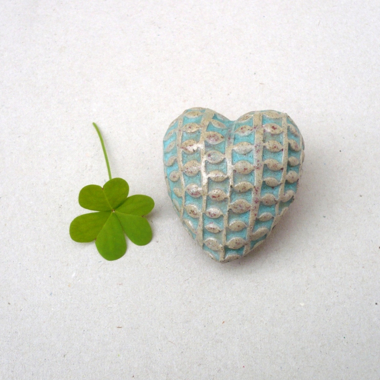 Turquoise Ceramic Heart
